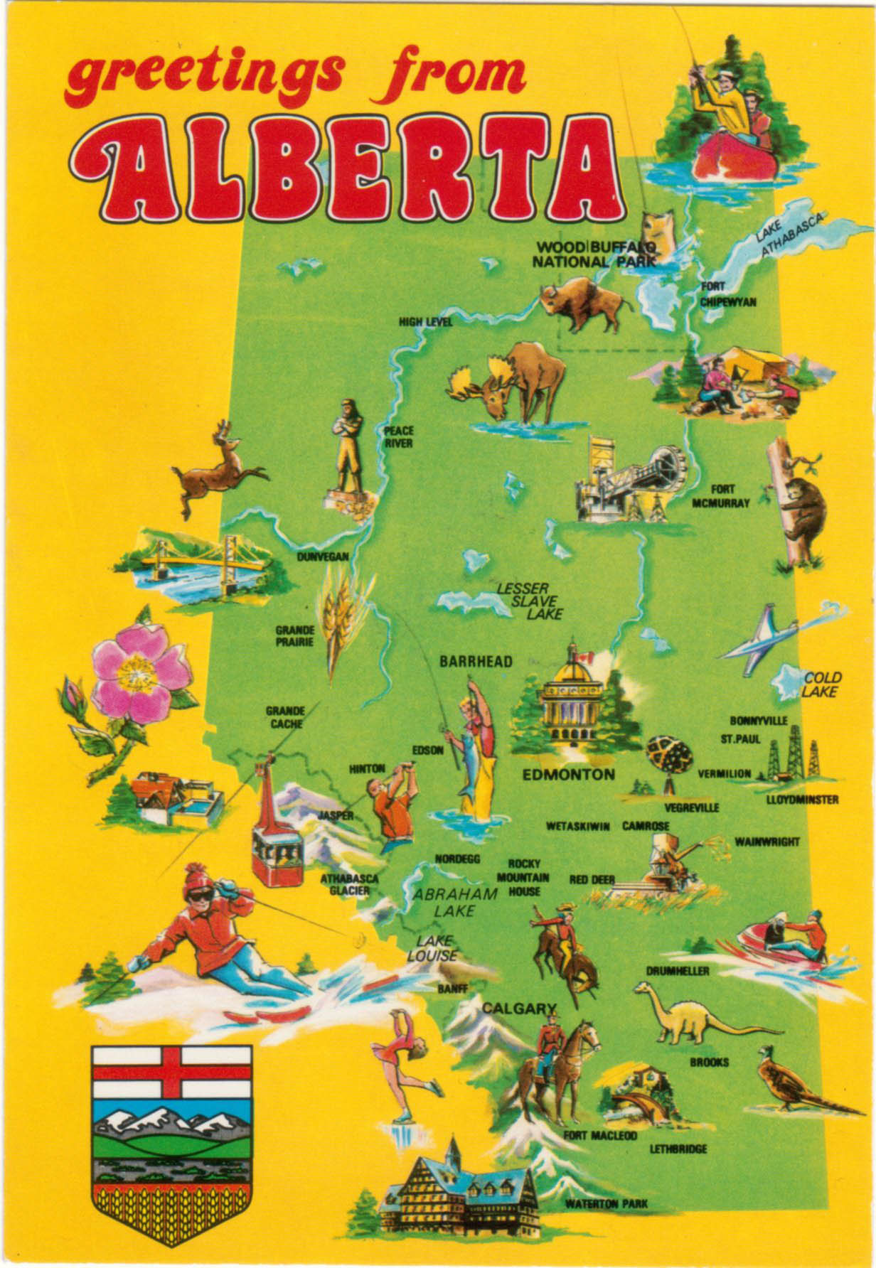 Greetings From Alberta Visual Definition Of A Canadian Province