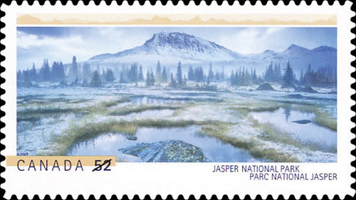 The 2007 Jasper National Park stamp