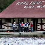 Maligne Tours Boat House - Getting ready to ride in a canoe - Canadian Rockies
