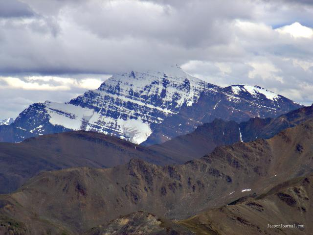 Mt Edith Cavell from top of Whistlers Mountain Photo