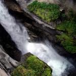 Waterfall on Maligne Canyon hiking trail