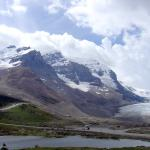 A view from afar - A view of the Icefields Parkway glacier - Canadian Rockies