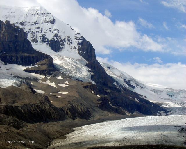 View from Athabasca Glacier Photo