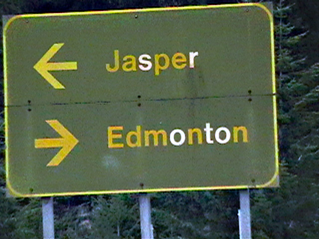 Jasper left, Edmonton right Photo