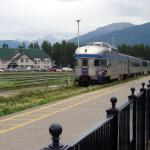 Via Rail Canada train coming into town