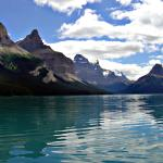 Yes, this place is real. - Maligne Lake in Jasper National Park, Alberta, Canada. - Canadian Rockies