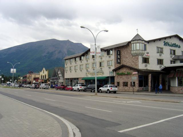 Whistlers hotel on the main street in the townsite area Photo