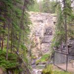 Hiking along the Maligne River Canyon.