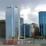Edmonton, Alberta - Part of the Edmonton skyline - Canadian Rockies