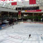 Ice skating rink in West Edmonton Mall
