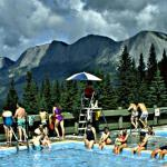 Miette Hot Springs Surrounded by Mountains