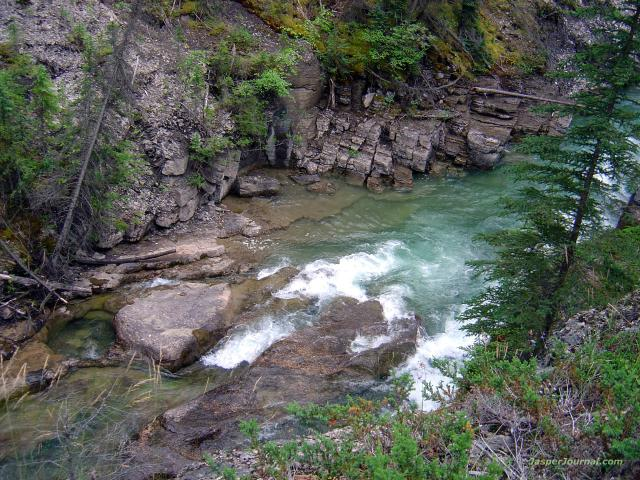 Maligne Canyon, river and rocks Photo