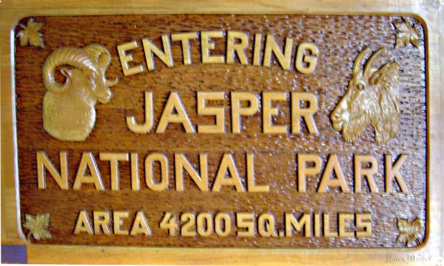 Jasper National Park Sign Photo