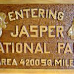 Jasper National Park Sign - Old wooden sign - Canadian Rockies