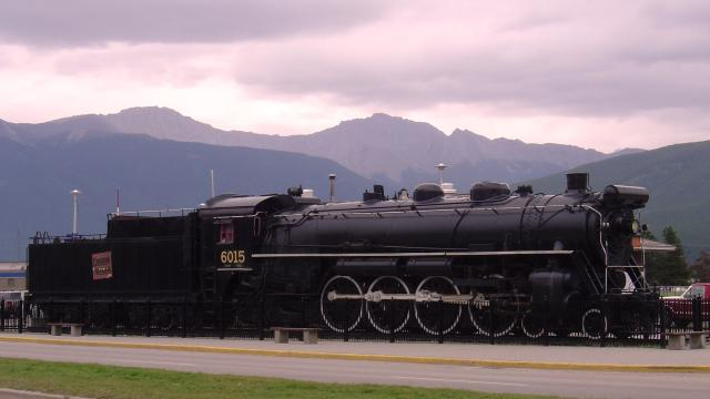 Historic Canadian National 6015 Train on Exhibit Photo