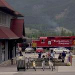 The 5791 Canadian Pacific Train in Jasper - Driving through town - Canadian Rockies