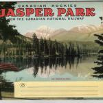 1940s Jasper National Park Postcard Folder - Outside of Postcard Folder - Canadian Rockies