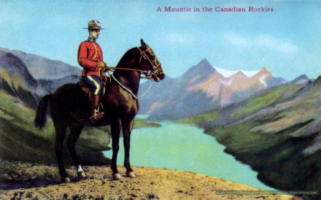 Canadian Mountie in Jasper Park Photo