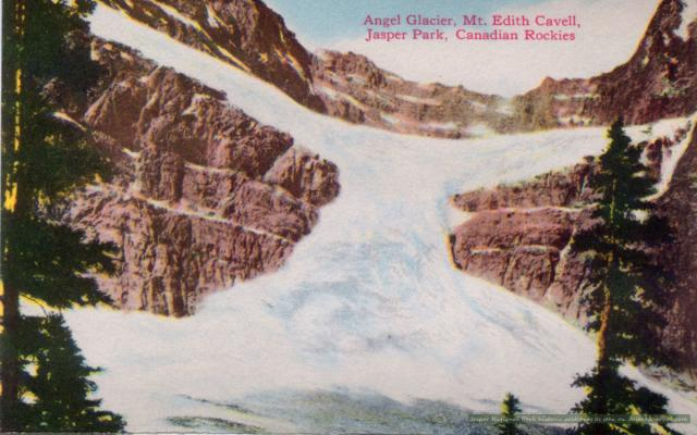 Angel Glacier on Mount Edith Cavell Photo