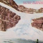 Angel Glacier on Mount Edith Cavell - From 1940s or 1950s postcard - Canadian Rockies