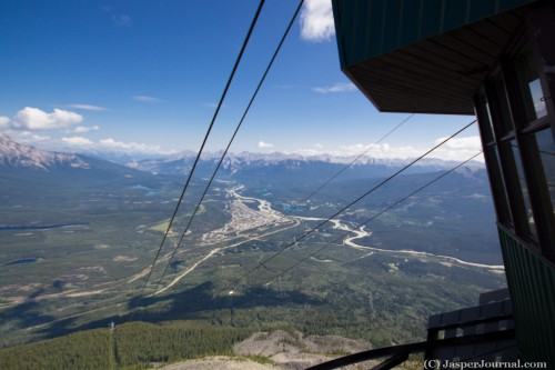 View from Jasper Tramway upper terminal