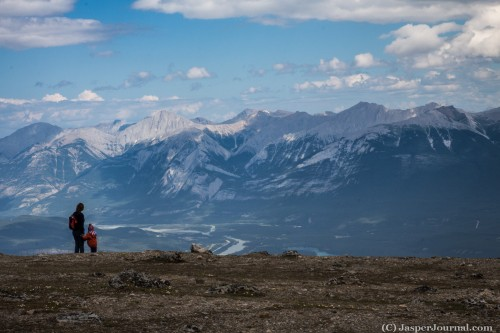 Jasper Tramway hike with kids