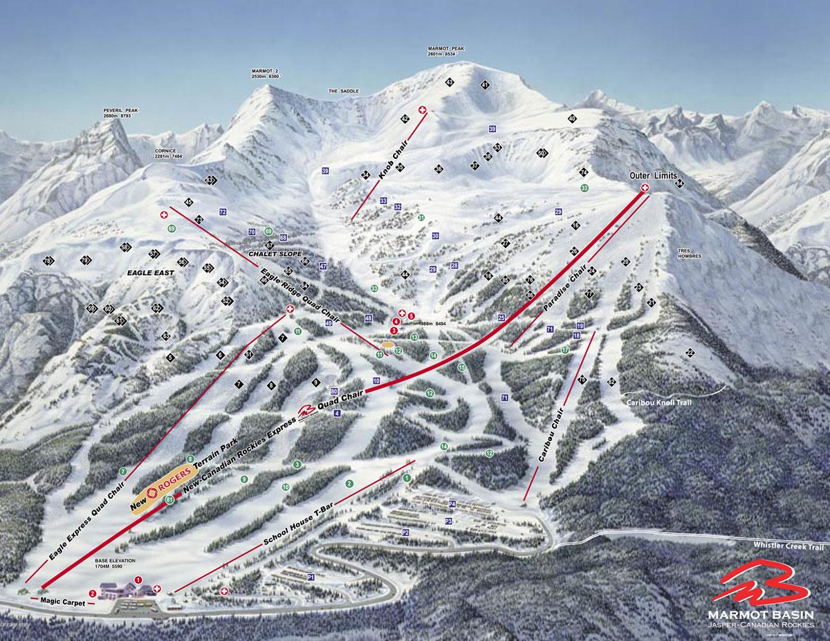 jasper marmot basin ski area: