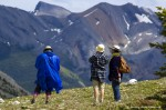 Hikers on Sulphur Skyline Trail, Jasper National Park