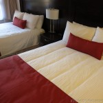 Comfy beds in my Marmot Lodge hotel room