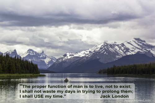 Maligne Lake - Jasper National Park - quote