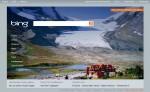 Athabasca Glacier on Bing.com homepage