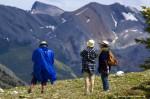 Hikers on Sulphur Skyline Trail, Jasper National Park