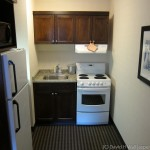 Kitchenette in my room at Marmot Lodge