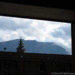From the walkway outside my Marmot Lodge room, I could see Jasper Tramway
